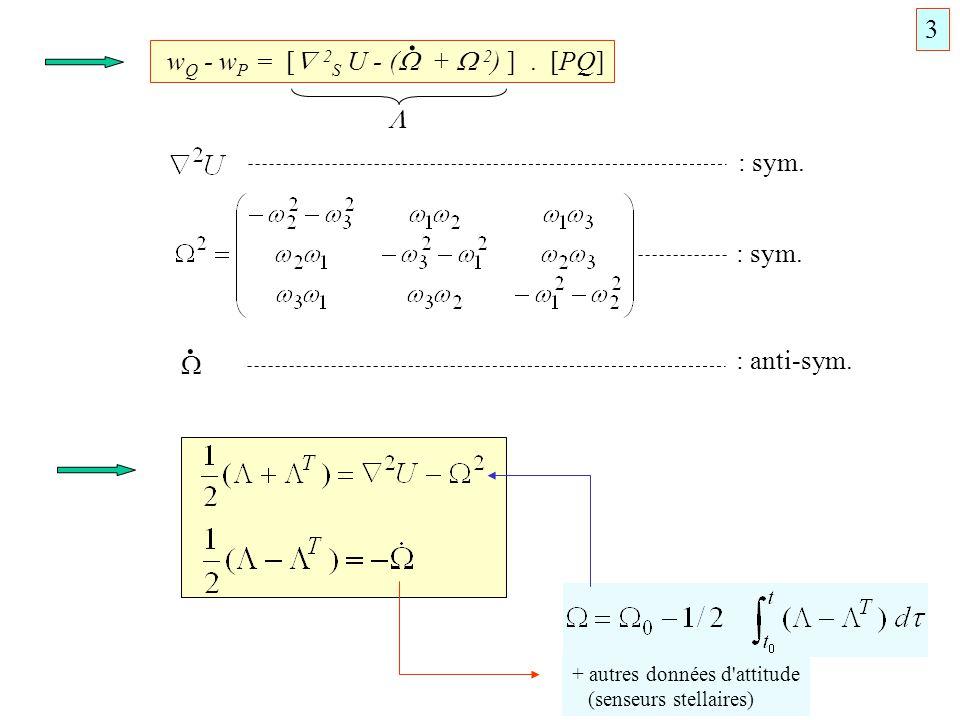 . . 3 wQ - wP = [ 2S U - ( +  2) ] . [PQ]  : sym. : sym.